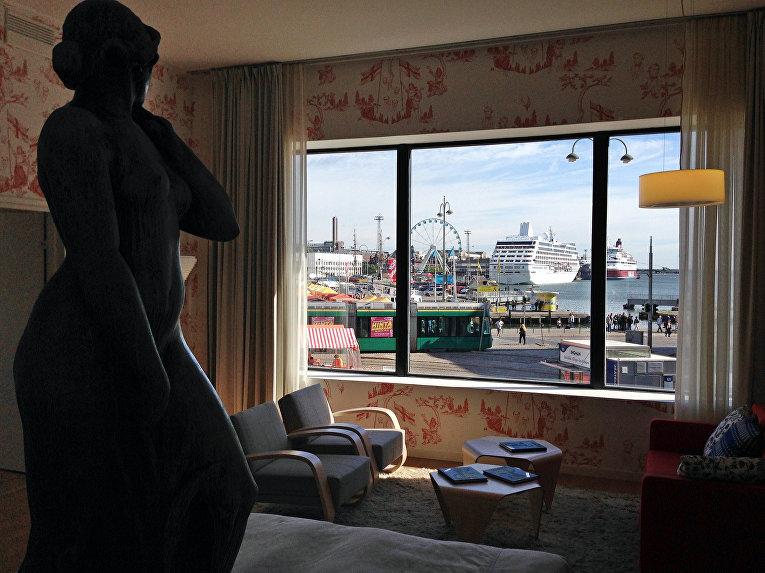 Вид на Хельсинки из окна отеля
