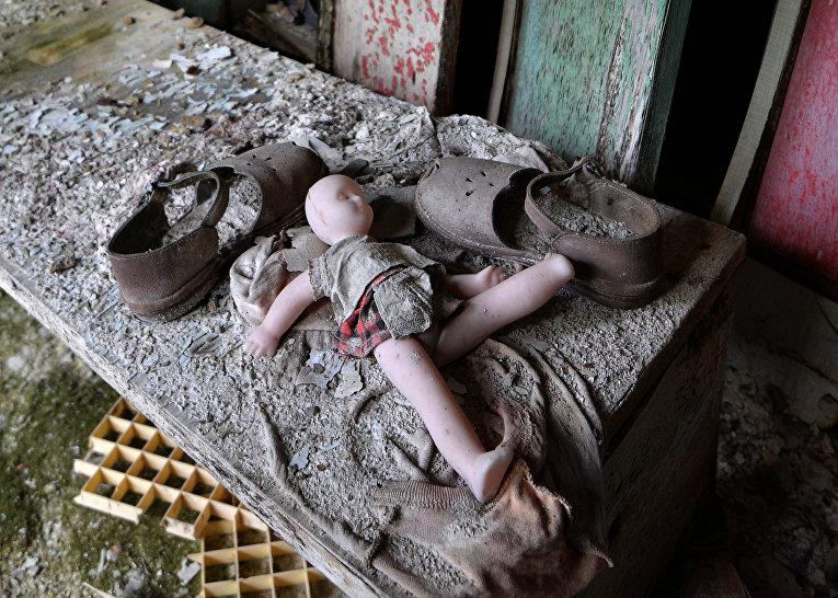 Детские вещи в городе Припять