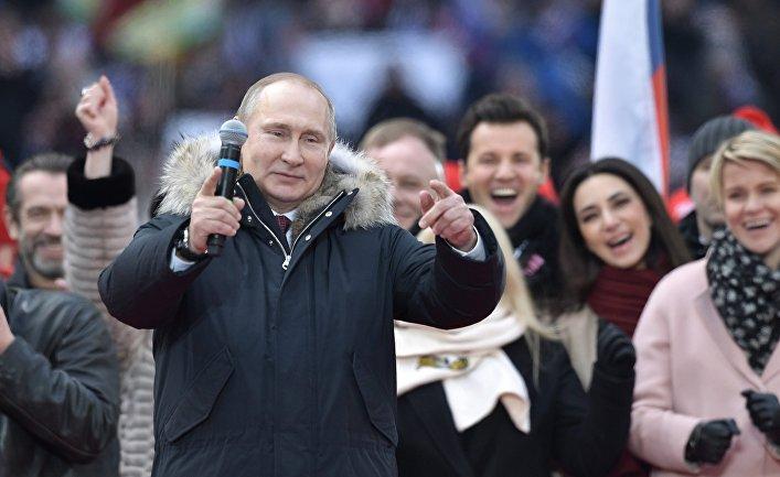 Митинг в поддержку кандидата в президенты РФ В. Путина