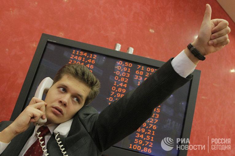 Работа «Московской межбанковской валютной биржи» (ММВБ)