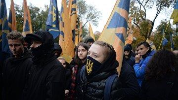 Шествие УПА (запрещена в России) в Киеве. 14 октября 2017