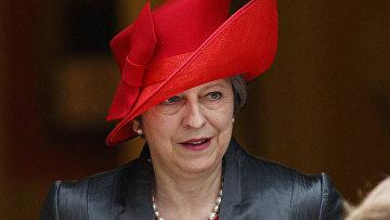 Премьер-министр Великобритании Тереза Мэй на Даунинг-Стрит 10 в Лондоне