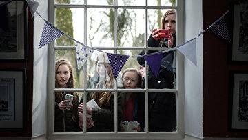 Ученики школы в Хаворфе, Великобритания