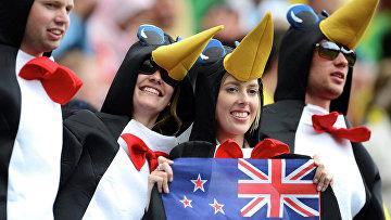 Фанаты из Новой Зеландии на Олимпийских играх 2012 в Лондоне