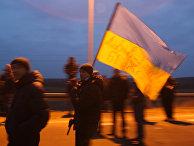Украинские дальнобойщики блокируют автодорогу на границе с Польшей