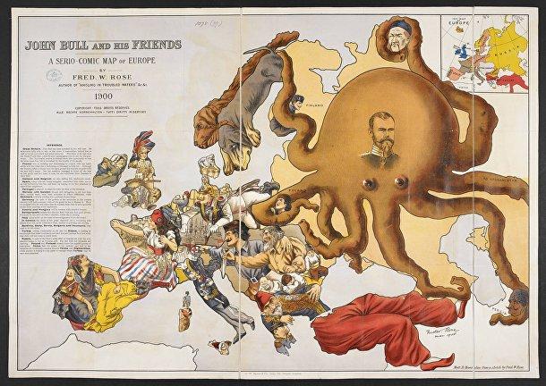 Карта была создана Фридрихом Роузом и опубликована в 1900 году