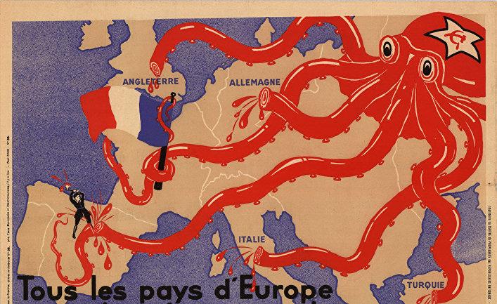 Каррикатурная карта Европы, 1937 год