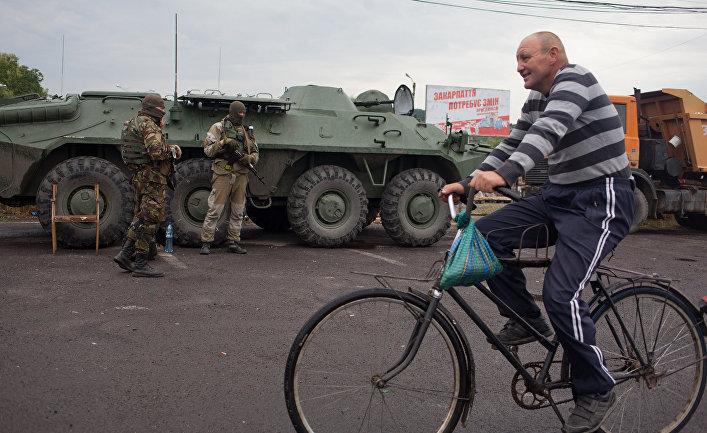 Украинские военные в Мукачево