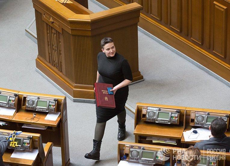 Надежда Савченко на заседании Верховной Рады Украины. 22 марта 2018