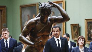 Бывший эмир Катара Хамад бин Халифа Аль Тани в Третьяковской галерее