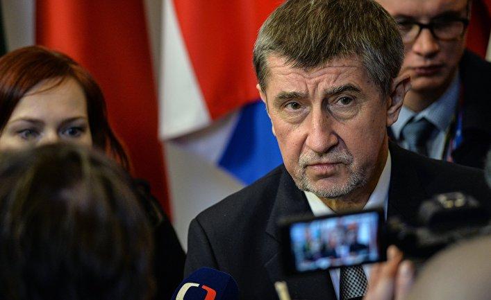 Премьер-министр Чехии Андрей Бабиш на саммите ЕС в Брюсселе. 23 марта 2018