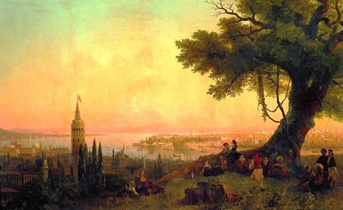 Вид на Константинополь