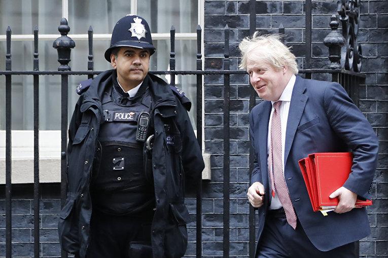 Министр иностранных дел Великобритании Борис Джонсон в Лондоне