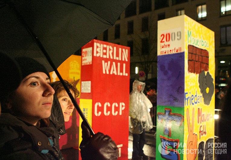 Празднование 20-летия падения Берлинской стены в Германии