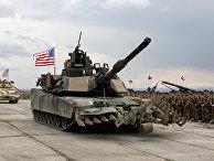 Церемония открытия совместных военных учений американских, британских и грузинских войск