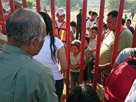 Караван мигрантов из Центральной Америки, направляющийся в сторону Соединенных Штатов
