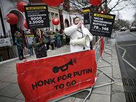Российский бизнесмен Евгений Чичваркин во время акции протеста против президентских выборов в России