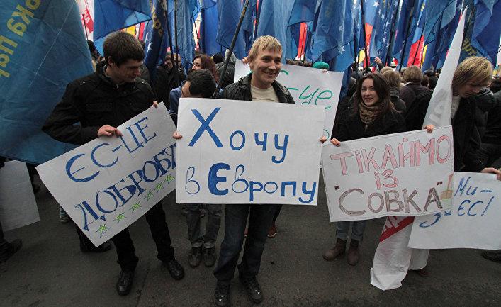 Акция оппозиционных депутатов в Верховной Раде Украины