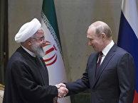 Президент РФ Владимир Путин и президент Исламской Республики Иран Хасан Рухани