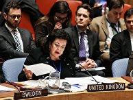 Карен Пирс выступает на открытом заседании совета безопасности ООН