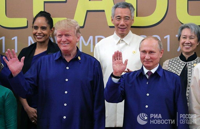 Владимир Путин и Дональд Трамп на саммите АТЭС