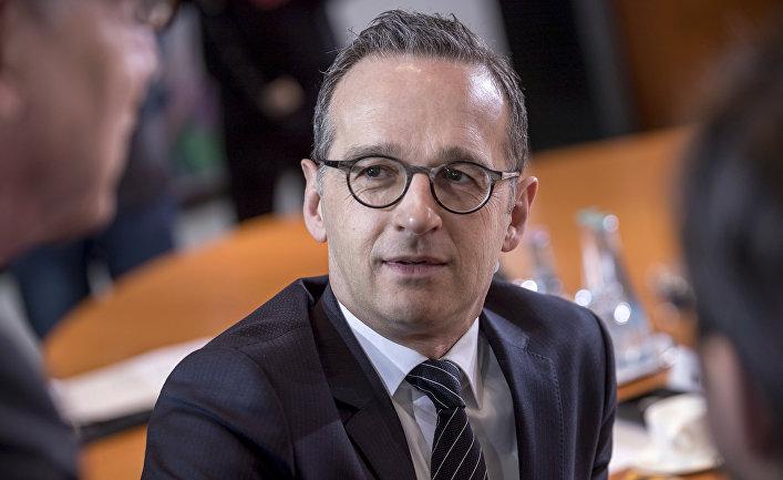 Бывший министр юстиции Хайко Маас на заседании кабинета министров в Берлине, Германия. 8 марта 2018