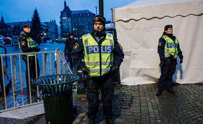 Полицейские в шведском городе Мальме