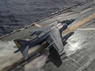 Взлет штурмовика AV-8B «Харриер»