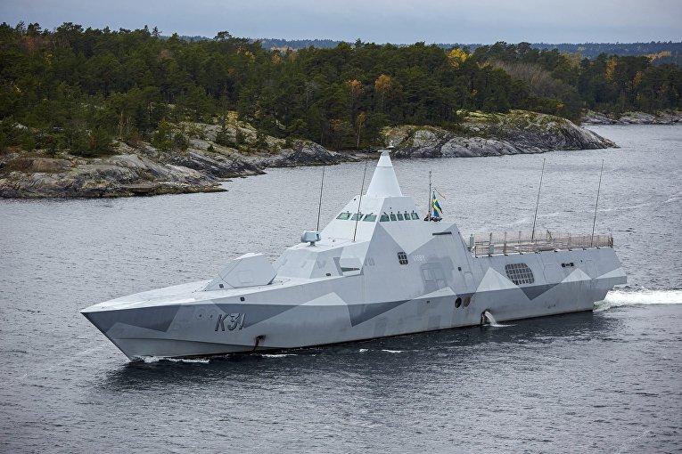 """Корвет """"Висбю"""" ВМС Швеции"""