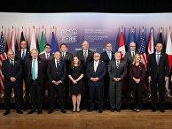 Министры безопасности и министры иностранных дел стран G7 во время встречи в Торонто