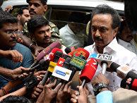 Индийский политик из Тами Наду М.К. Сталин