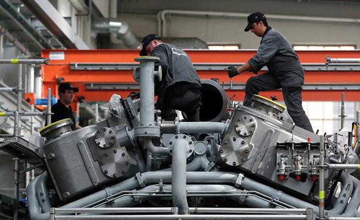 Работа машиностроительного завода в Германии