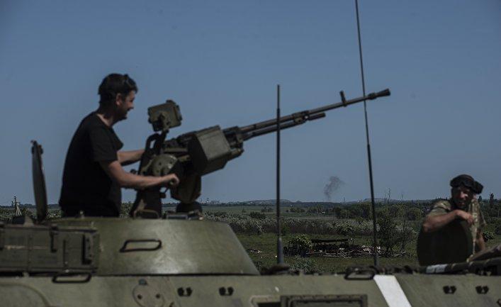 Бронетехника ВСУ в районе Донецка, Украина
