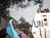 Акция протеста у штаб-квартиры ООН в центральноафриканском городе Банги