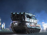 """Зенитно-ракетный комплекс """"БУК-М2"""" на репетиции военного парада на Красной площади, посвященного 73-й годовщине Победы в Великой Отечественной войне"""