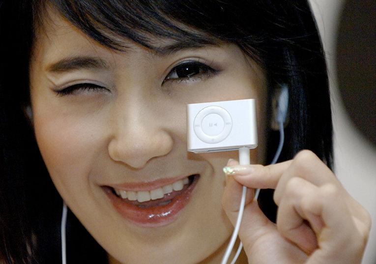 Презентация новой модели iPod в Сеуле в 2006 году