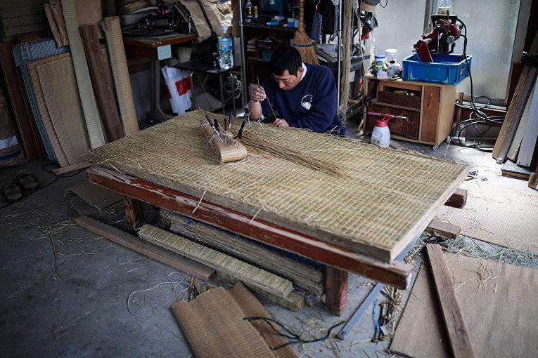 Японский мастер татами Хироши Янаи