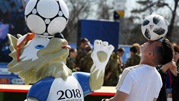 Открытие Парка футбола ЧМ-2018 в Казани