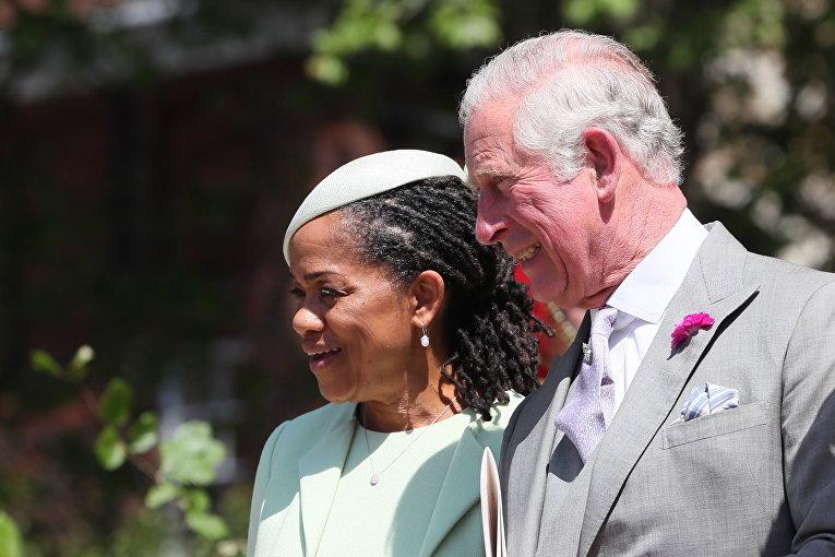 Мать Меган Дория Рэгланд и принц Чарльз