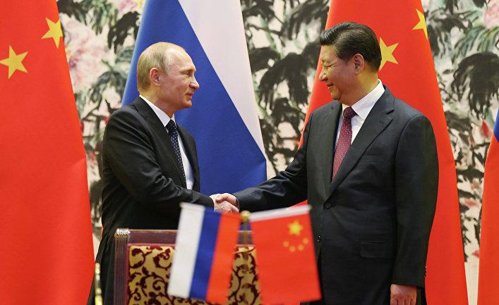 Президент РФ Владимир Путин и председатель КНР Си Цзиньпин на встрече в рамках саммита АТЭС