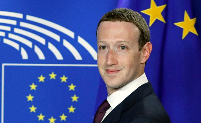 Генеральный директор Facebook Марк Цукерберг в Европейском парламенте в Брюсселе