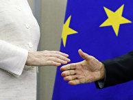 Президент РФ Владимир Путин и федеральный канцлер ФРГ Ангела Меркель на пресс-конференции