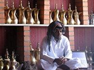 Посетитель кафе в Саудовской Аравии