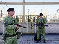Украинские морские пехотинцы в порту Одессы