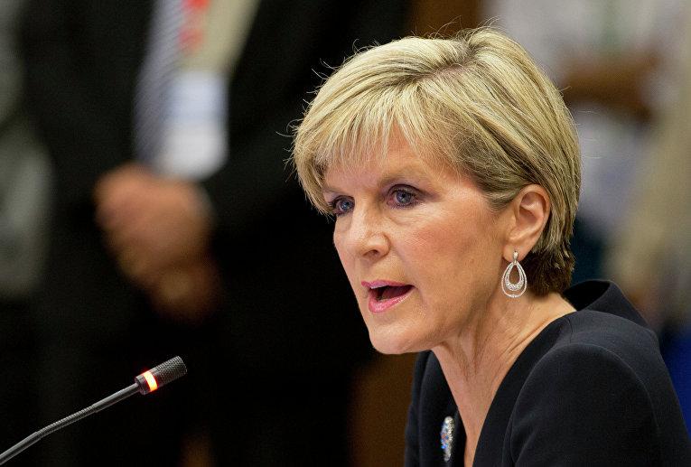 Министр иностранных дел Австралии Джули Бишоп. Архивное фото