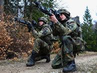 """Немецкие солдаты на военных учениях """"Allied Spirit VI"""", Германия"""