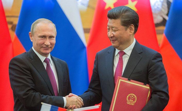 Президент России Владимир Путин и председатель Китайской Народной Республики (КНР) Си Цзиньпин