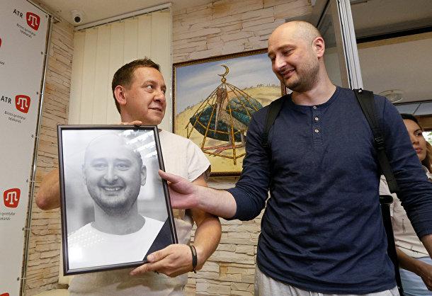 Журналист Аркадий Бабченко в офисе телеканала ATR в Киеве, Украина. 31 мая 2018
