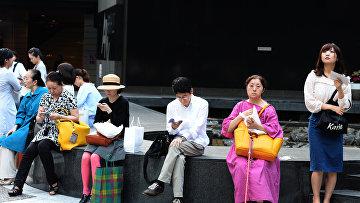 Жители Токио.
