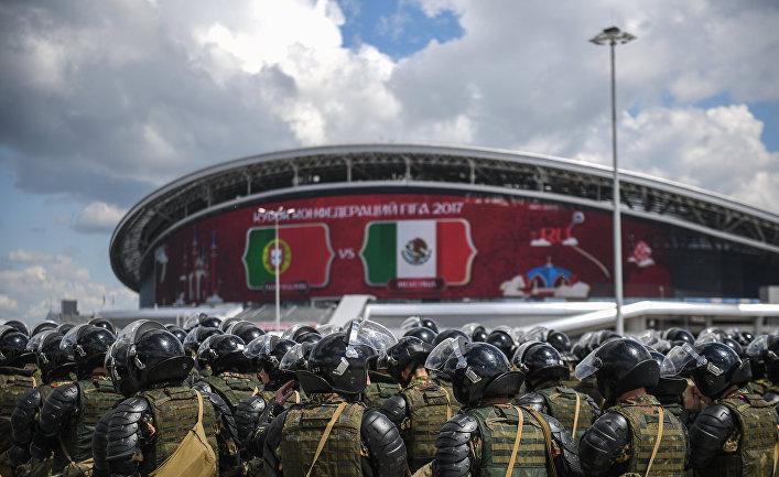 Полицейские у стадиона «Казань Арена»